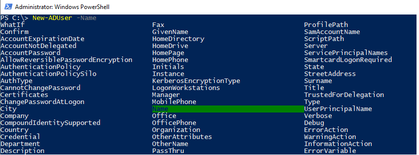 powershell-ctrl-space-menu